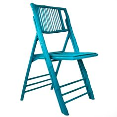 Turquoise Bamboo Folding Chair - FOLDABLE CHAIRS - CHAIRS - FURNITURE