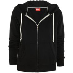Nike Rally cotton-blend jersey hooded top, Black, Women's, Size: S (62 CAD) ❤ liked on Polyvore featuring tops, hoodies, jackets, outerwear, sweaters, nike, sport hoodie, hooded sweatshirt, yoga tops and sport hoodies