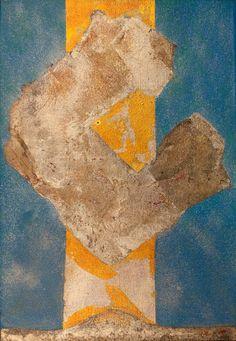 Kenji Yoshida (Japan), La Vie, 1984, (KY1082). Metals and oil on canvas, 55 x 38 cm