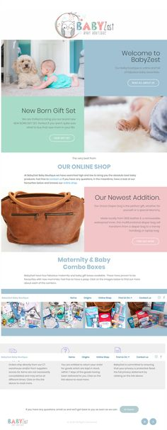 BabyZest Baby Boutique website and online shop. Baby Boutique, Beach House, Birth, Pregnancy, Web Design, Website, Mom, House Styles, Shopping