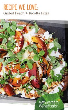 The only thing better than a summer peach? A grilled summer peach - on a pizza!