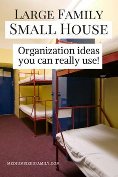 How to Organize a Large Family in a Small House Large family, small house. You can solve this proble Large Family Organization, Family Organizer, Home Organization, Organizing Ideas, Small House Living, Small Space Living, Small Spaces, Living Spaces, Living Rooms