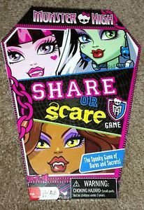 Monster High Share or Scare Game New Great for Birthday Party or Sleepovers | eBay