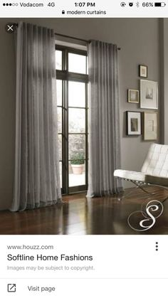 Belgique Curtain Panel natural color as semi sheer ready-made ...