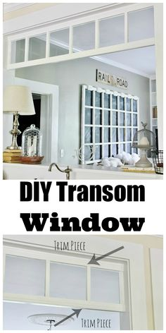 Easy DIY transom project!  Create a transom from old windows!