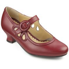 0962b61b4cb Hotter Valetta red leather vintage style Mary Janes