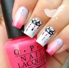 Cute dream catcher nail art