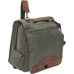 Amazon.com: Black Vintage Military Canvas M-51 Engineers Bag w/ Leather Accents: Clothing