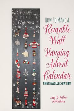 This fabulous diy reusable advent calendar allows you to hang pretty packages that are replaced with beautiful ornaments as the month progresses. Christmas Craft Projects, Handmade Christmas Decorations, Holiday Crafts, Holiday Fun, Christmas Holidays, Winter Holiday, Christmas Ornament, Christmas Ideas, Reusable Advent Calendar