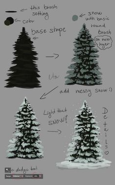 ___ tutorial__evergreen_tree ____ by_naia_art-daulaod.jpg × 1200 ___ tutorial__evergreen_tree ____ by_naia_art-daulaod. Digital Painting Tutorials, Digital Art Tutorial, Art Tutorials, Watercolor Painting Tutorials, 3d Tutorial, Painting Patterns, Christmas Art, Christmas Tree Drawing, Painted Christmas Tree