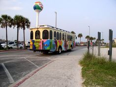 Pensacola Beach Trolly, runs right by our house.....we love taking the trolly and leaving the car at home!