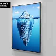 Success Iceberg | Home office decor | Business Motivation | Gift for Businessman | Money Decor | Money Art | Entrepreneur Art Inspirational Canvas Art, Motivational Gifts, New Poster, Black Women Art, Business Motivation, Home Wall Art, Beautiful Artwork, African Art, Picture Wall
