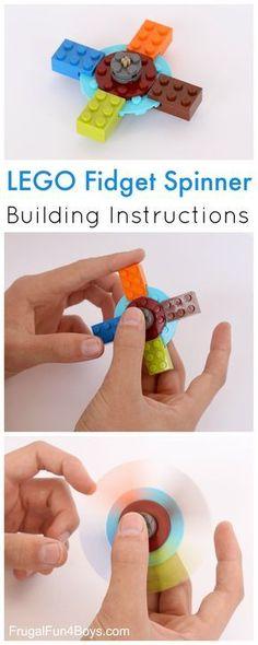 Hier siehst du einen selbst gebauten Fidget Spinner aus LEGO®, der uns von BRICKaddict.de gefällt!