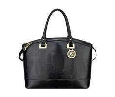 Women's Top-Handle Handbags - Anne Klein Runwild Satchel Shoulder Bag Black One Size >>> Check this awesome product by going to the link at the image.