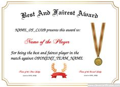 2nd place free certificate templates for kids sport and best and fairest designer yelopaper Image collections