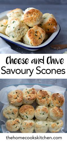 Beautiful, buttery scones perfect for any occasion. These cheese and chive savoury scones are so easy to make and will be an absolute hit with everyone. Best Savory Scone Recipe, Savory Scones, My Best Recipe, Fun Baking Recipes, Tea Recipes, Breakfast Recipes, Scone Recipes, Savoury Recipes, Cooking Recipes