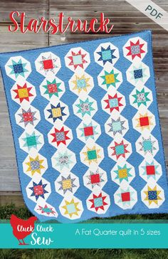 Starstruck and a Pattern Sale (Cluck Cluck Sew) Star Quilts, Scrappy Quilts, Baby Quilts, Quilting Tutorials, Quilting Projects, Quilting Ideas, Craft Projects, Craft Ideas, Cluck Cluck Sew
