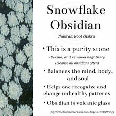 Snowflake Obsidian crystal meaning