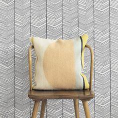 "Scantrends Ferm Living WallSmart Hand Printed Chevron 32.97' x 20.87"" Geometric Wallpaper"