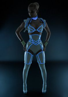 Tron-inspired cosplay