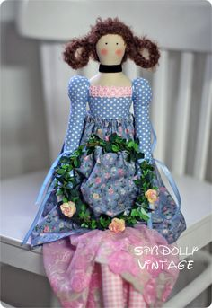 МИШЕЛЬ - 56 см - интерьерная кукла в стиле тильда - разноцветный,купить Тильду