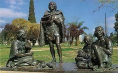 Monumento de los ultimos Charruas, Montevideo. One of two monuments commemorating Uruguay's indigenous population.