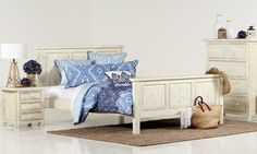 Darcy White Queen Timber Bed - contemporary - Beds - bedshed.com.au