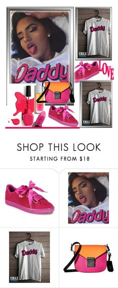 """EmaxTees  9"" by k-lole ❤ liked on Polyvore featuring Puma, Urban Decay and MCM"