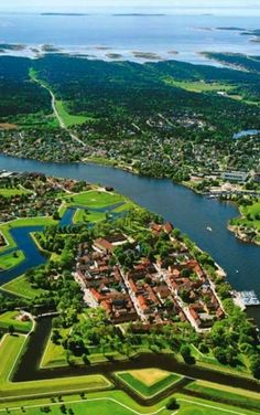 The Old Town in Fredrikstad, Norway