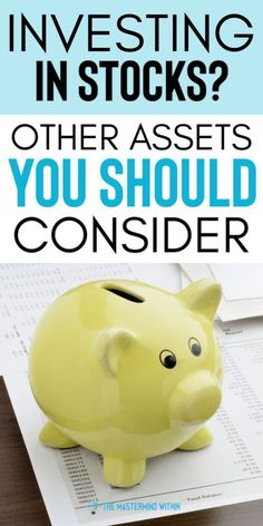 All Assets are Worth Considering (and Owning) for Financial Success Other assets you should consider investing in other than stocks. There are other options to invest your money in. Find out which assets are the best options for you! Make More Money, Ways To Save Money, Money Tips, Money Saving Tips, Managing Money, Investing In Stocks, Investing Money, Financial Success, Financial Planning