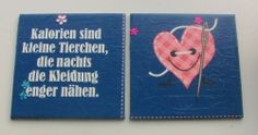 "Bild Kinder Muttertag Geschenk Mitbringsel ""Kalorien""  Serviettentechnik"