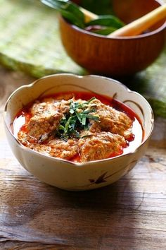 Thai Panang Curry with Beef - an authentic Panang curry is fried in thick coconut cream, providing a thick, creamy, soup-like gravy.