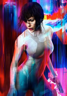 Ghost In The Shell  Hi-Res Movie Poster Electric Key Art TX