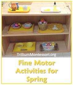 Fine Motor Activities for Spring