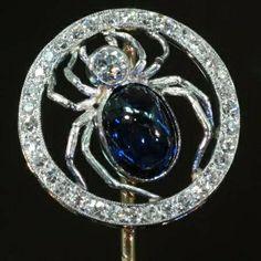 Lalique spider stickpin