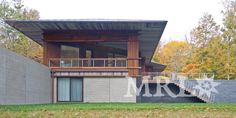 Corral Board Soffit adorns this modern structure - Photos by Westphalen Photography