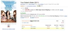 """Watch """"Your Sister's Sister"""" via Amazon."""