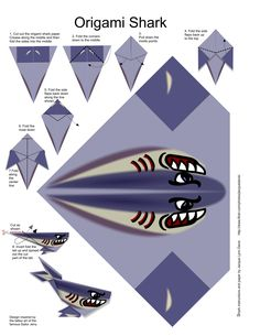Origami shark - tubarão