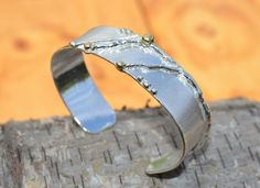 bracelet silver gold rustic design AtelierRitz € 229,00