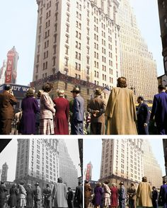 New York On D Day - Artist Colorizes Old Black & White Photos Making History Come To Life