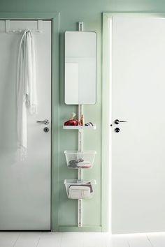 Ikea algot rail basket mirror