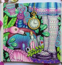 #sagoliktenmålarbok @lidehalloberg  #sagolikt #lidehalloberg #adultcoloringbook #coloringbook #coloringforadults #colouringbook #colouring #coloring #art #artwork #instaart #artoftheday #arttherapy #arttherapie #antistress #aliceinwonderland #coloredpencil #prismacolor #fabercastell #colleen