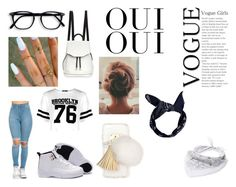"""""""White Outfit!"""" by itslexaniiii ❤ liked on Polyvore featuring Ashlyn'd, Boohoo, rag & bone, Steve Madden and Oui"""