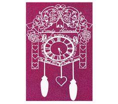 Personalized New Born Baby Papercut Art new baby by LagoDosSonhos #Paper  #papercut  #newbabypapercut  #babyshowergift  #babygifts  #personalizedgift #newmomgift #nurserywallart  #christeninggift  #baptismgift  #personalisednursery  #birthannouncement  #cuckooclock  #floralwallart #etsy #handmade #pink