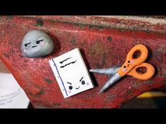 Back to School Rock, Paper, Scissor Locker Magnets Polymer Clay Tutorial...