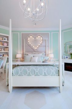 Daughter loves the heart. Bedroom Inspiration for Pre-Teen Girls | Live Love in the Home