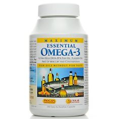 Andrew Lessman Maximum Essential Omega-3 – No Fishy Taste – Orange at HSN.com.    The absolute best Omega-3 will change your skin and hair to softer and less dry:)