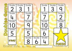FREE Doubles/doubling board game (to double - SparkleBox Maths Eyfs, Math Literacy, Fun Math, Teaching Math, Math Activities, Numeracy, Math Doubles, Early Years Teaching, Double Game