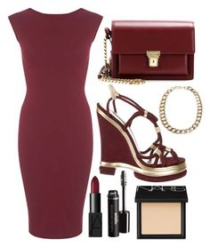 """Fall Fashion #12"" by ethenknowsfashion on Polyvore featuring Miss Selfridge, Dolce&Gabbana, Yves Saint Laurent, MANGO and NARS Cosmetics"