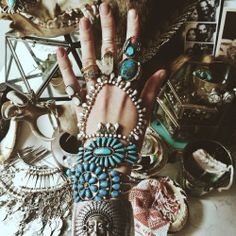 photography pretty bracelets jewelry beautiful hippie vintage inspiration boho indie silver retro bohemian turquoise accessories rings gypsy adorn boho style gypset adorned gypset living